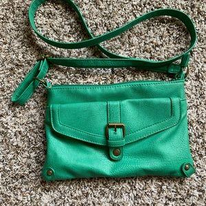 American Eagle green crossbody purse